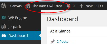 Dashboard-to-homepage